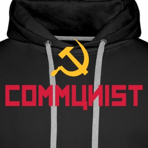 Communist with hammer and sickle Sweat-shirts - Sweat-shirt à capuche Premium pour hommes