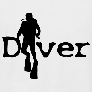 White/navy worddiver4cc T-Shirts - Men's Baseball T-Shirt