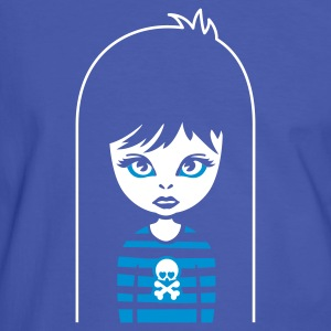 Blau/weiß bad gothic girl for black shirts T-Shirt - Männer Kontrast-T-Shirt