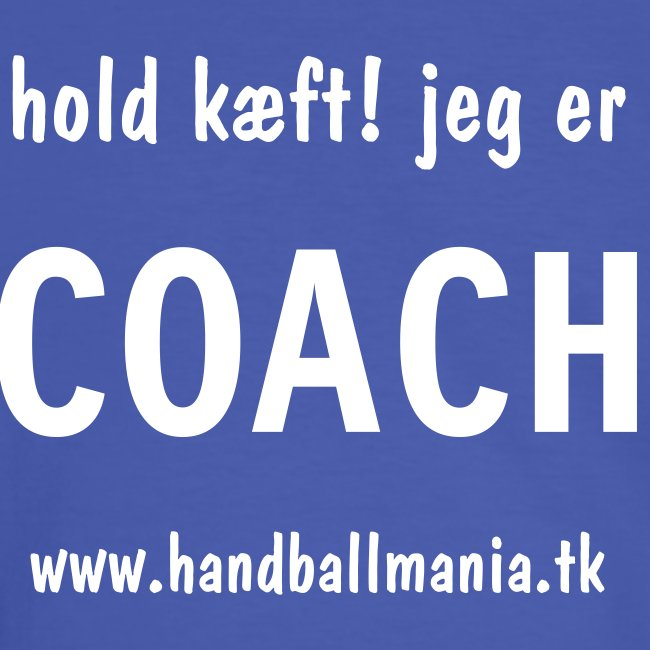 I'm the coach (In Danish)