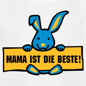 Weiß Hasi mit Schild Kinder - Teenager T-Shirt