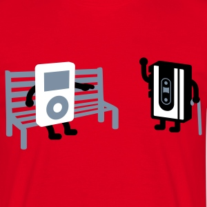 Rot analog vs digital T-Shirt - Männer T-Shirt