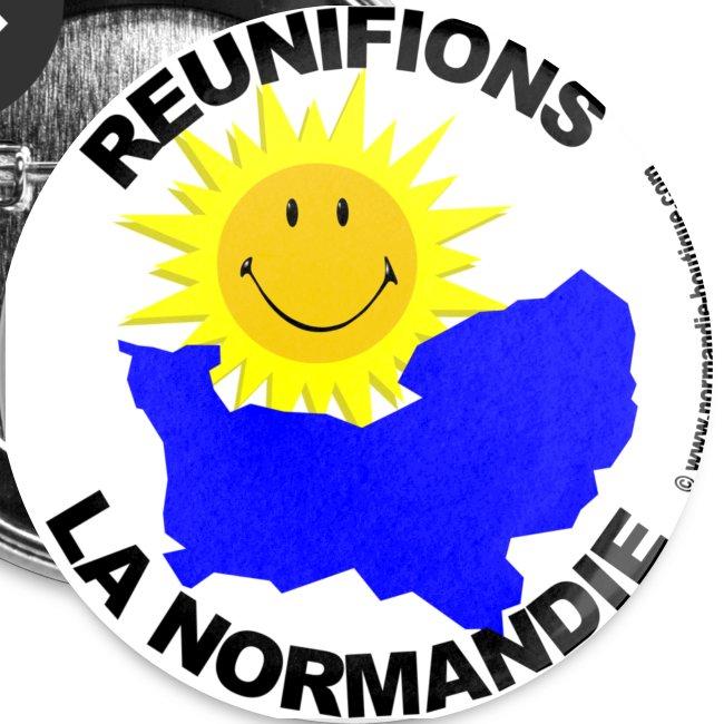 5 badges Réunifions la Normandie