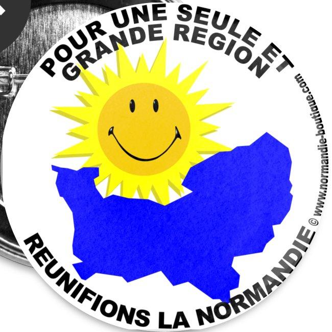 5 badges Pour une seule Normandie