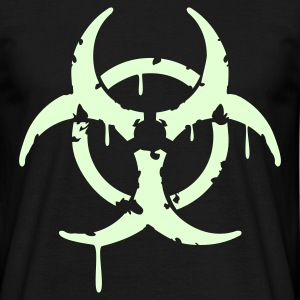 Grunge Bio Hazard - Glow In The Dark - Men's T-Shirt
