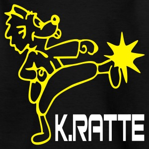 Karate-Ratte T-Shirt - Teenager T-Shirt