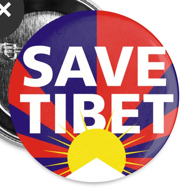 Save Tibet Button