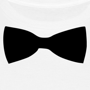 Blanc Bow Tie T-shirts (manches courtes) - T-shirt Homme