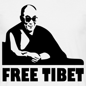 White Free Tibet T-Shirts - Men's T-Shirt