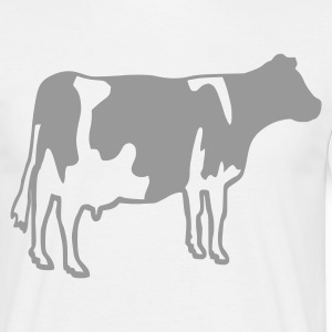 Blanc Cow Hommes - T-shirt Homme