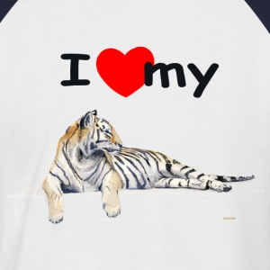 I love my Tiger Pr Raglan Shortsleeve Red - Men's Baseball T-Shirt