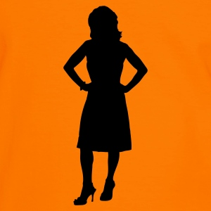 Orange/black Woman - Mother T-Shirts - Men's Ringer Shirt