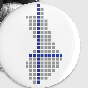 White Finland Pixel Map Accessories - Buttons small 25 mm