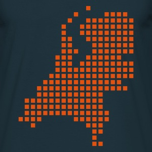Navy Dutch pixel map holland T-Shirts - Men's T-Shirt