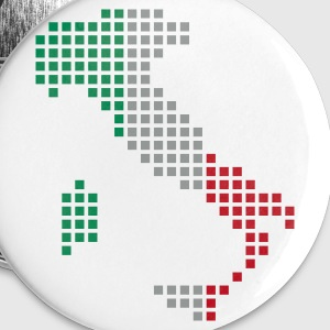 White Italy flag map Accessories - Buttons small 25 mm