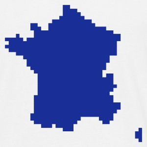 White France pixel map T-Shirts - Men's T-Shirt