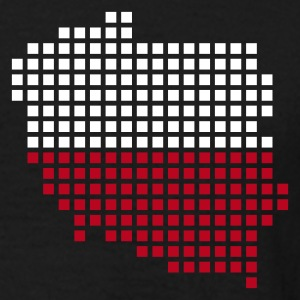 Black Poland flag pixel map T-Shirts - Men's T-Shirt