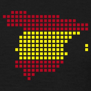 Black Spain flag pixel map T-Shirts - Men's T-Shirt