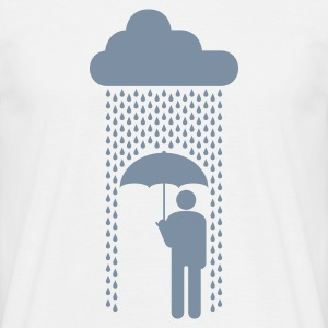 in the rain - Men's T-Shirt