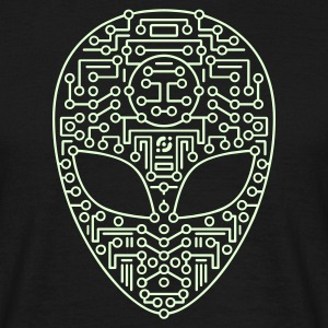Black alien2_t11 T-Shirts - Men's T-Shirt