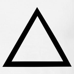 Hvid triangle T-Shirts - Herre-T-shirt