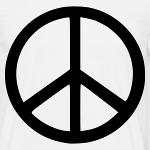White peace sign T-Shirts - Men's T-Shirt