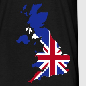 Noir UK - Great Britain flag pixel mapUK - Great Britain flag map Hommes - T-shirt Homme