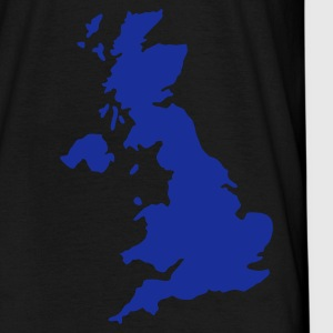 Zwart UK - Great Britain map Heren t-shirts - Mannen T-shirt