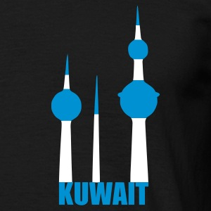 Zwart Kuwait towers Heren t-shirts - Mannen T-shirt