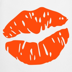 Blanco lips kiss mouth Delantales - Delantal de cocina