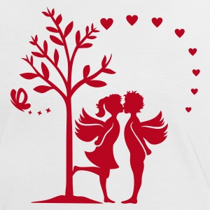 ANGEL LOVE - Frauen Kontrast-T-Shirt