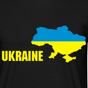 Black Royal blue Ukraine flag map T-Shirts T-Shirts - Men's T-Shirt