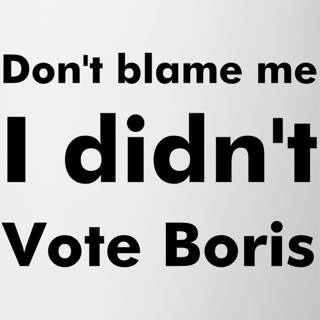 I Didn't Vote Boris Mug