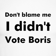 Design ~ Long Black Sleeved Men's I Didn't Vote Boris T Shirt