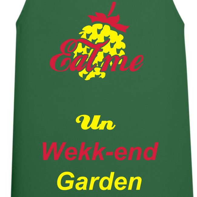"Tablier ""Un Week-End Garden"""