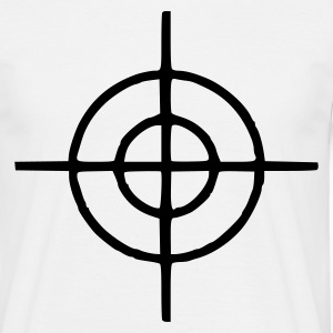 White crosshairs T-Shirts - Men's T-Shirt