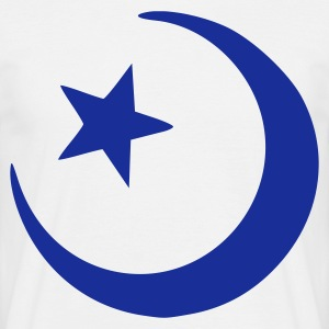 White islam crescent moon star  T-Shirts - Men's T-Shirt