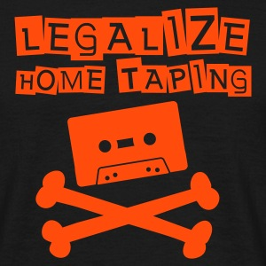 Black Legalize home taping T-Shirts - Men's T-Shirt
