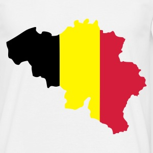 Hvid belgium flag map T-Shirts - Herre-T-shirt