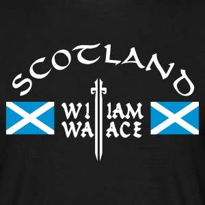 Schwarz Scotland William Wallace T-Shirt - Männer T-Shirt