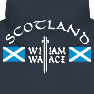 Navy Scotland William Wallace Männer Langarm - Männer Premium Kapuzenjacke