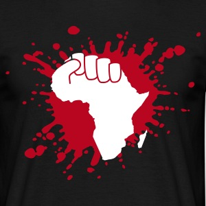 Schwarz the power of africa T-Shirt - Männer T-Shirt