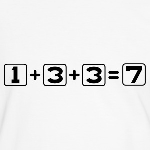 White/black 1 + 3 + 3 = 7 T-Shirts - Men's Ringer Shirt