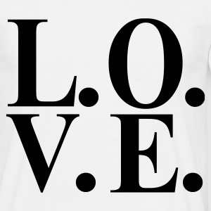 Wit L. O. V. E. - Love Heren t-shirts - Mannen T-shirt