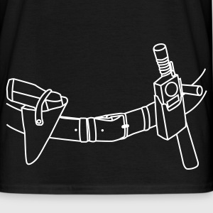 Black Police Belt T-Shirts - Men's T-Shirt