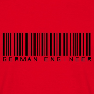 Rot German Engineer T-Shirt - Männer T-Shirt