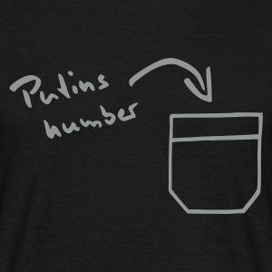 Zwart Putin's number in your pocket Heren t-shirts - Mannen T-shirt