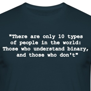 10 types of people (blau) - Männer T-Shirt
