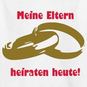 Weiß Eheringe Kinder - Teenager T-Shirt