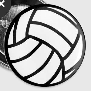 Blanc Volleyball Accessoires - Badge petit 25 mm